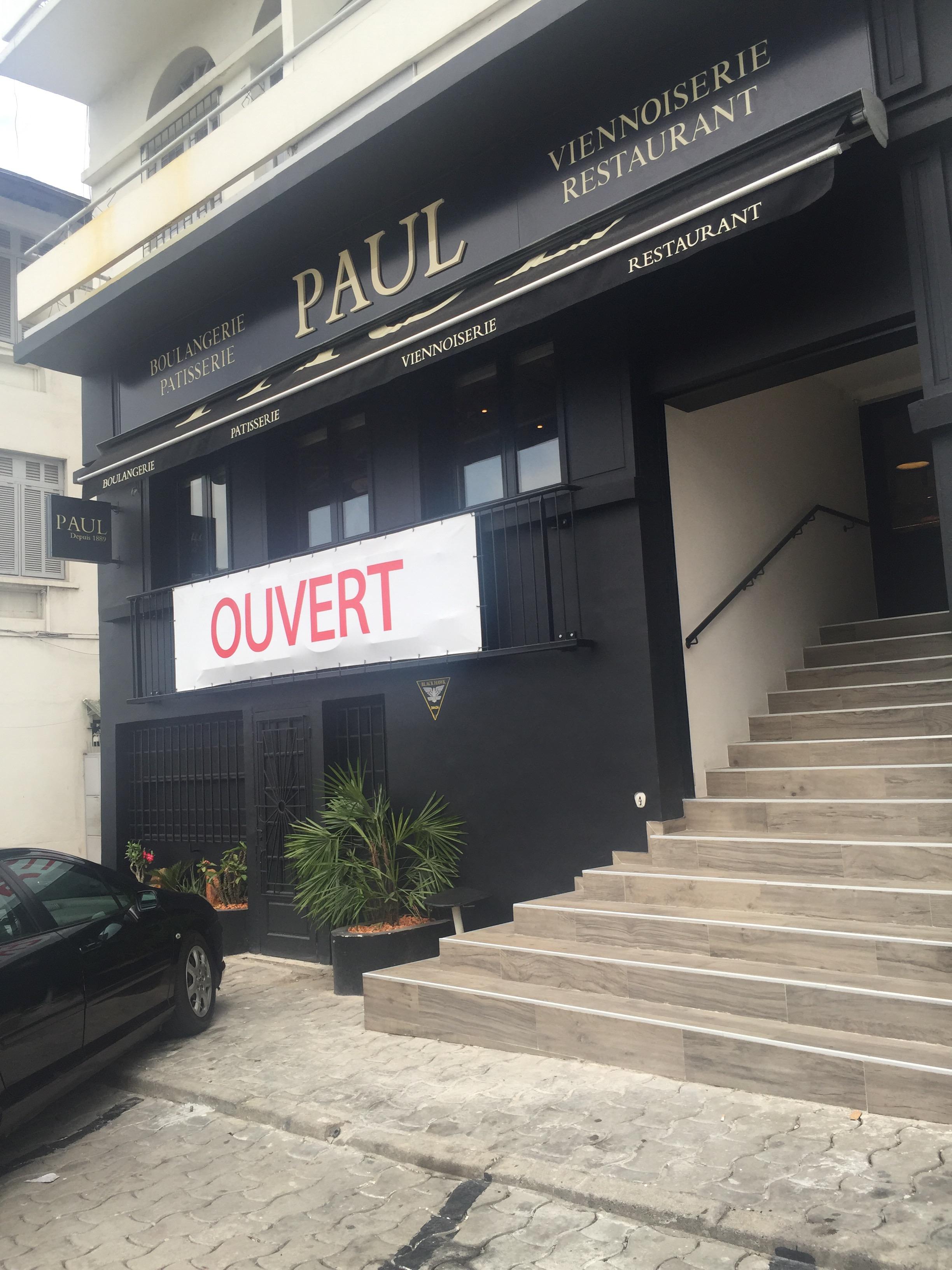 Depuis un moment la franchise française Paul a fait son apparition à Abidjan,  comptant 3 locaux à ce jour en Zone 4(bd de Marseille), Deux Plateaux(rue  des